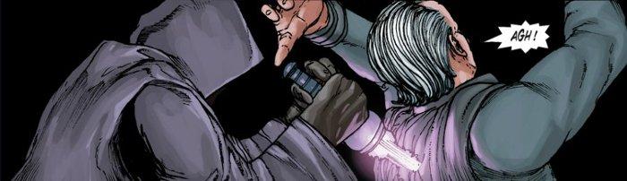 Dark Baras est attaqué de dos par un assassin sith