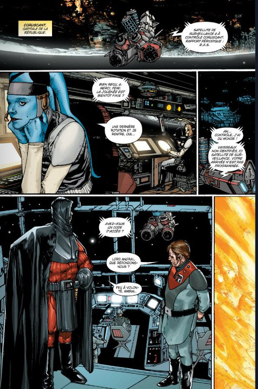 Page 3 du comics traité de paix de Star Wars : The Old Republic