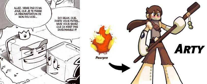 Roi Gelax et Arty (manga Dofus)