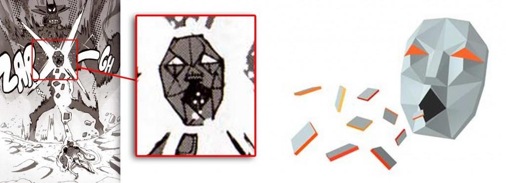 Le masque situé sur la poitrine de Cornu Mollu est un clin d'oeil au le boss en 3D tiré du jeu vidéo Starwing sur Super Nintendo.
