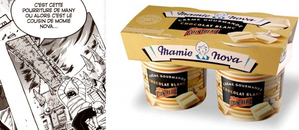 Li Crounch fait allusion ici à l'ancienne marque de yaourt Mamie Nova