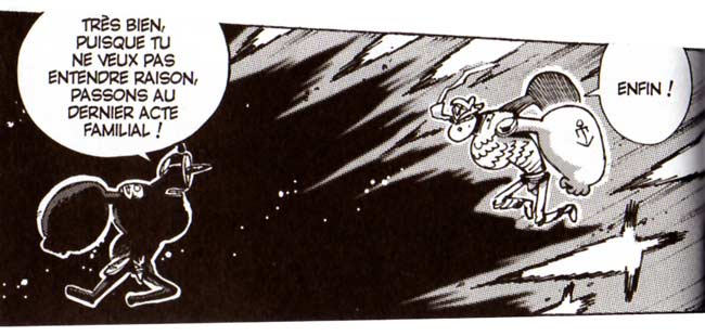 Cornu Mollu affronte le dieu iop (Dofus)