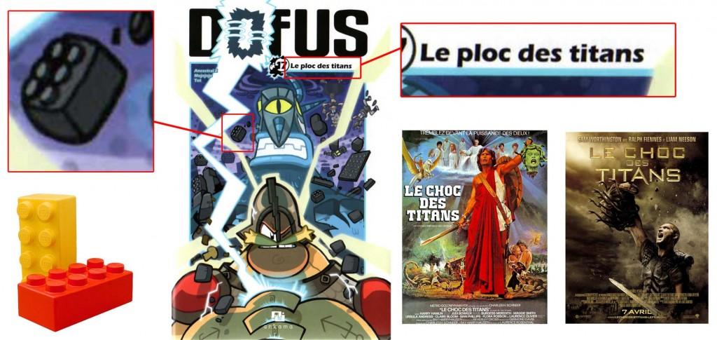 Le titre fait référence au Choc des Titans (Dofus)