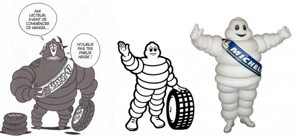 Cornu Mollu est déguisé en bibendum en allusion à la mascotte des pneus Michelin