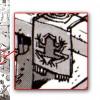 on peut voir le logo du studio de jeux-vidéo Bullfrog