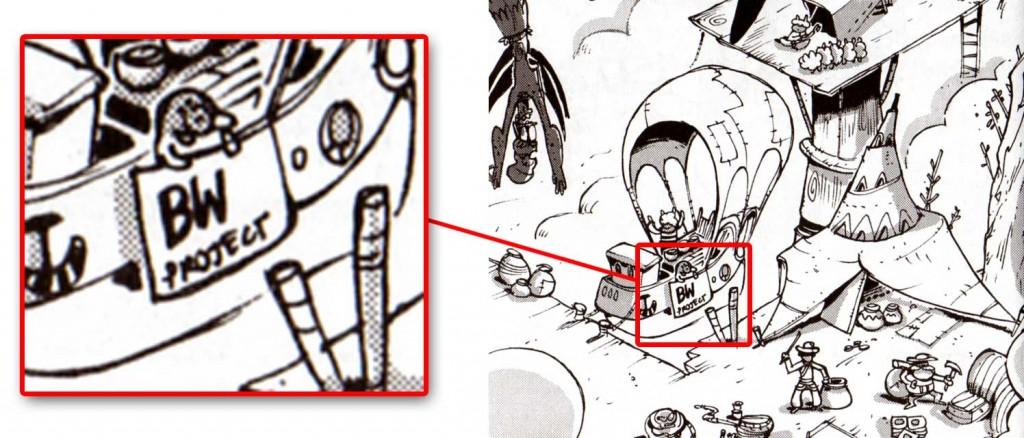 page 180 : BW Project est un clin d'oeil à un projet de Bruno Waro