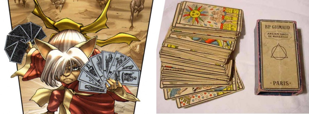 Calypso utilise les cartes du Tarot de Marseille