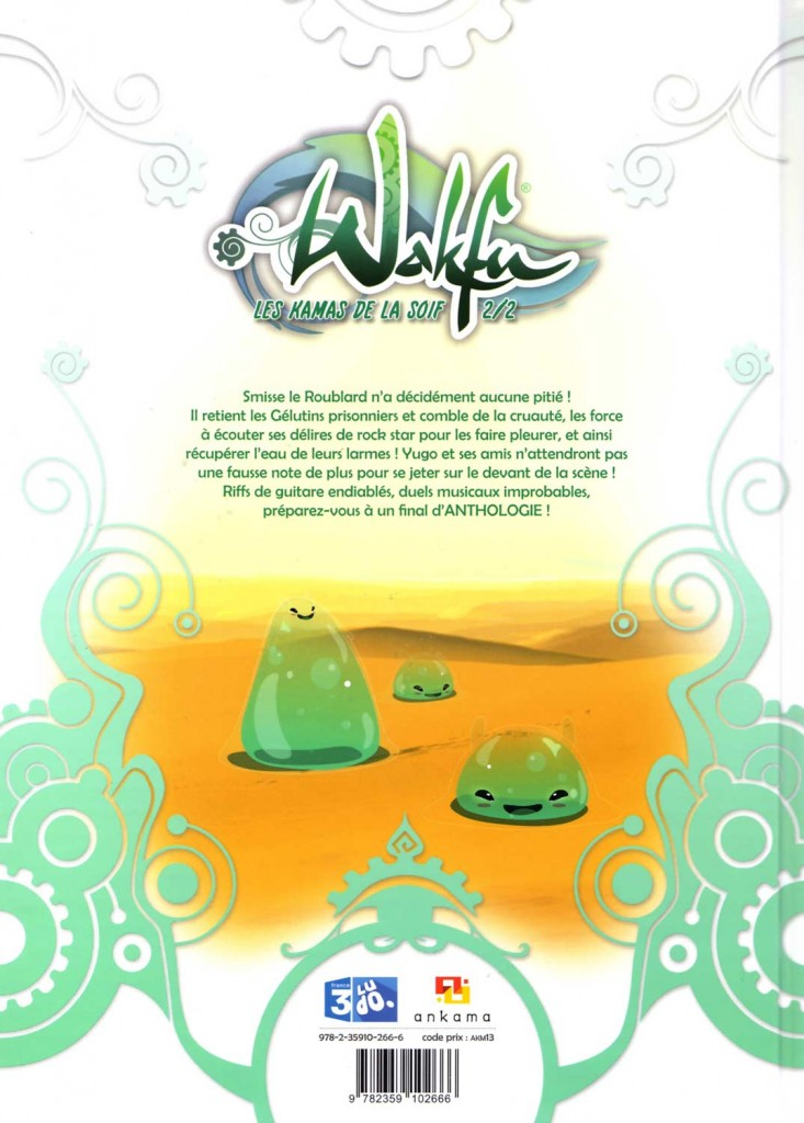 Dos du tome 2 de Wakfu : Les Kamas de la soif