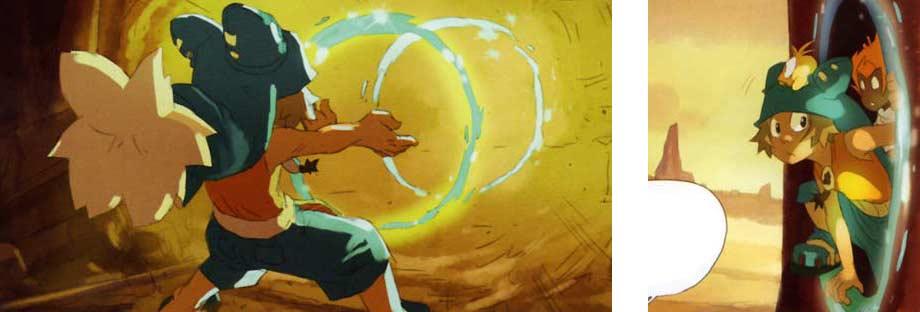 Les portails de Yugo sont transparents contrairement à la série