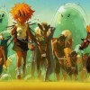les glutins sont librs et Kira peut les ramener  son village (Wakfu)