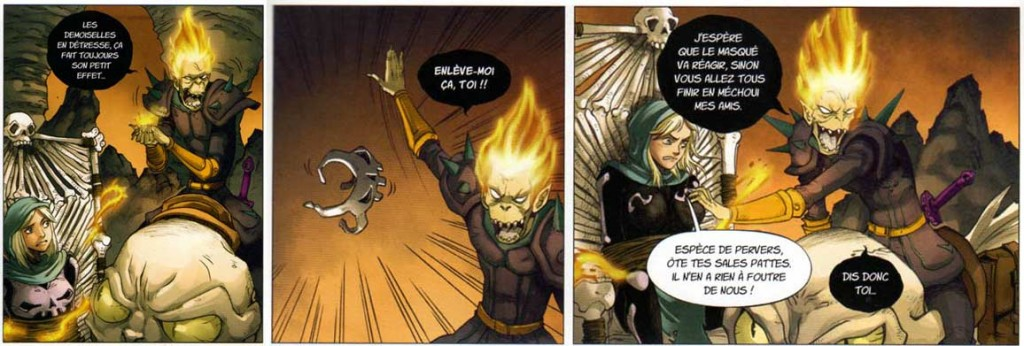 Dark Vlad s'en prend à Farow (Maskemane)