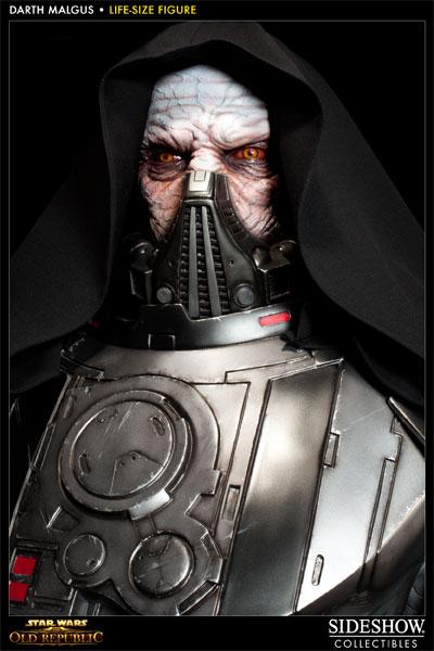 Statue Dark Malgus de Star Wars : The Old Republic - gros plan de la tête