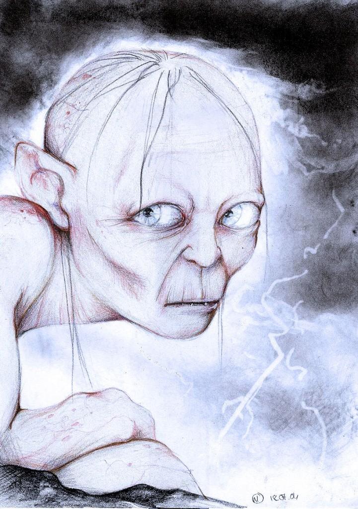 2004 Fan art Gollum par Nadou