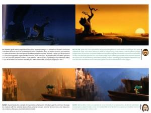 Les décors du canyon sont très axés sur la lumière (Wakfu)