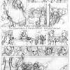 Les Légendaires : Planche de test de Nadou N°1 - croquis