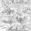 Les Légendaires : Planche de test de Nadou N°2 - croquis