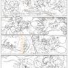 Les Légendaires : Planche de test de Nadou N°2 - line art