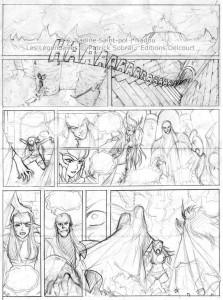 Les Légendaires : Planche de test de Nadou N°3 - croquis
