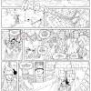Les Légendaires : Planche de test de Nadou N°3 - line art