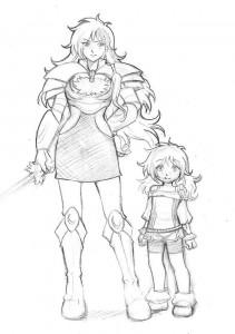 Saryn enfant et adulte (Légendaires)