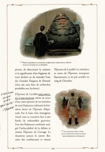 Page 2 de la description de l'épreuve de lucidité des Jedi d'après le manuel du Jedi (Star Wars)