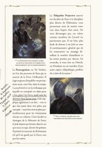 Page 2 sur le pouvoir de sens Jedi d'après le manuel du Jedi (Star Wars)