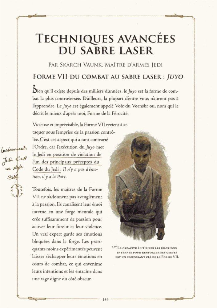 Les techniques interdites des Sith dans le manuel du Jedi (Star Wars)