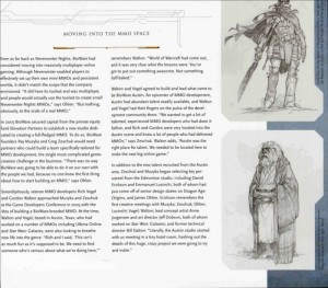 Le livre The Art and Making of Star Wars : The Old Republic a des pages avec beaucoup de texte