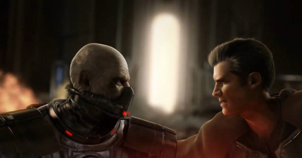 Dark Malgus vs Maître Zan Zallow dass Star Wars : The Old Republic pendant la destruction du temple de Coruscant