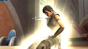 Satele Shan en pleine méditation dans Star Wars : The Old Republic