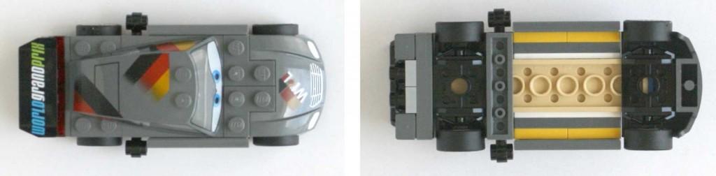 Max Schnell vue de dessus et dessous - Lego 9485 - Ultimate Race Set (Cars 2)