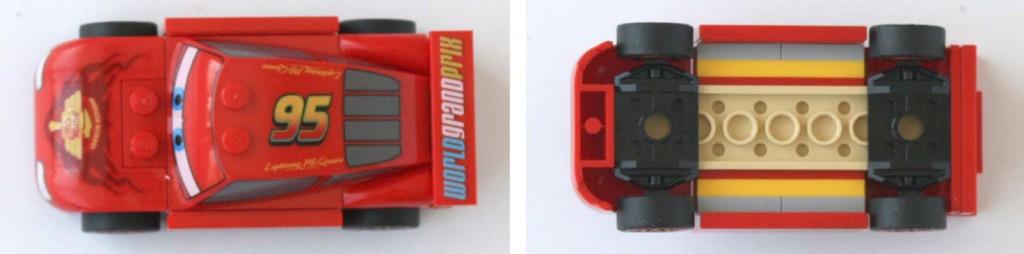 Lego 9485 - Ultimate Race Set (Cars 2) - Flash McQueen (Vue de dessous et dessous)