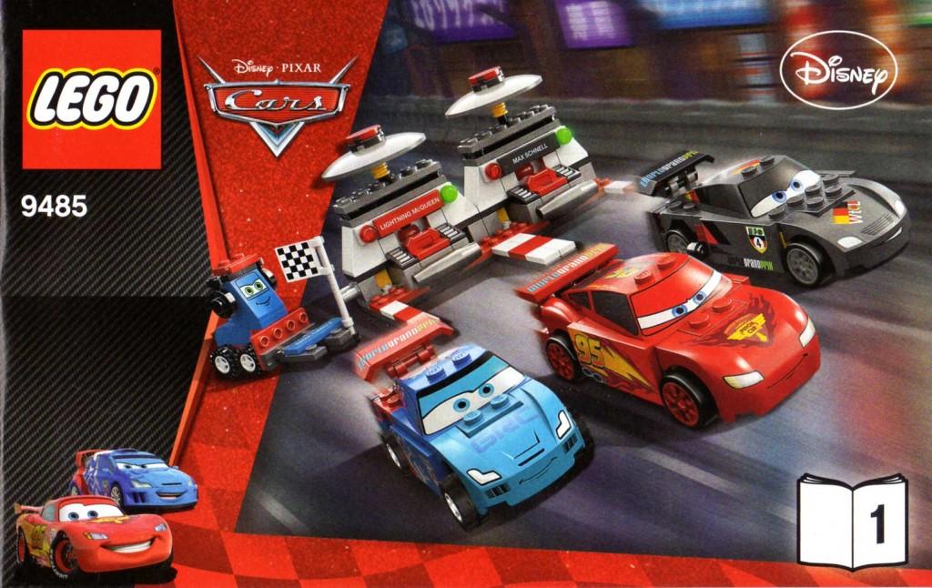 Plan montage - livre 1 - Lego 9485 - Ultimate Race Set (Cars 2)