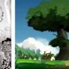 L'arbre au centre du village est apparu lorsque Ruel a écrasé un insecte de Nox