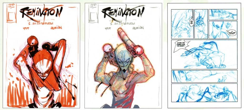 Croquis de recherche sur Remington