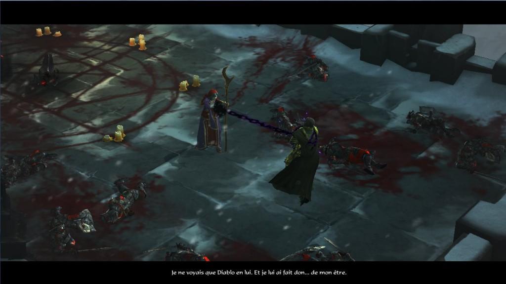 Adriah trahit Léah et Tyraël après avoir tué le dernier démon primordial Asmodan dans Diablo 3