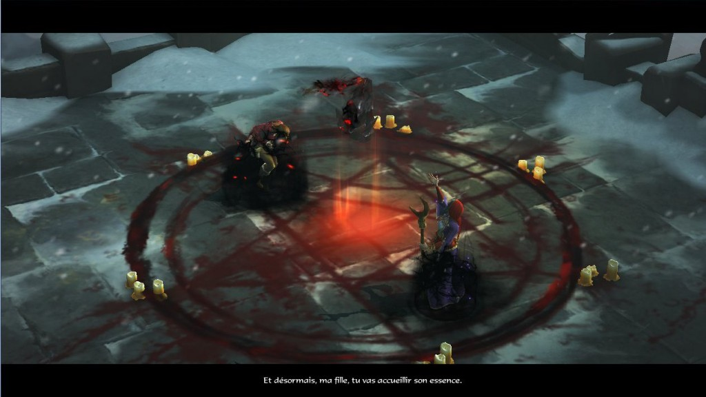 Adria invoque Diablo dans le corps de sa fille Léah après avoir tué le dernier démon primordrial Asmodan dans Diablo 3