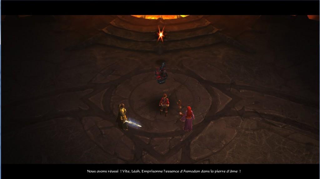 Léah va enfermer l'âme d'Asmodan, le dernier démon primordial dans le monde du sanctuaire.