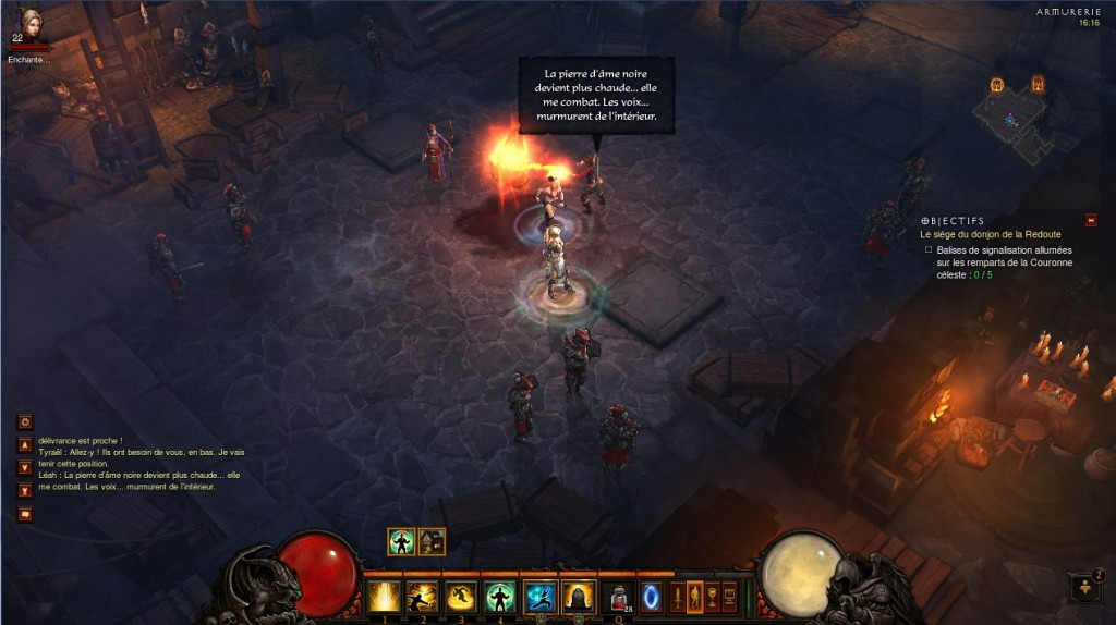 Léah tente de contrôler la pierre d'âme sombre dans Diablo 3 mais les démons se réveillent