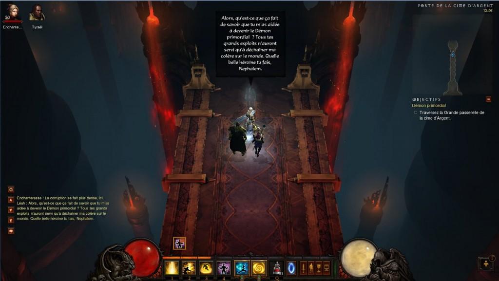 Léah en fantôme dans Diablo 3 montrant sa colère face aux héros qui n'ont pas su la protéger