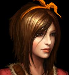 Diablo 3 : potrait de Léah dans le jeu Diablo 3
