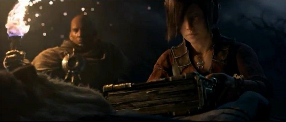 Tyraël et Léah rendent leurs derniers hommages à Deckard Cain dans Diablo 3 avant de s'attaquer à Bélial et Asmodan