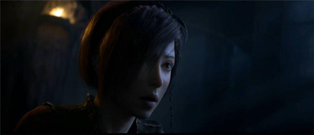 Gros plan de Léah dans Diablo 3 (cinématique d'introduction)
