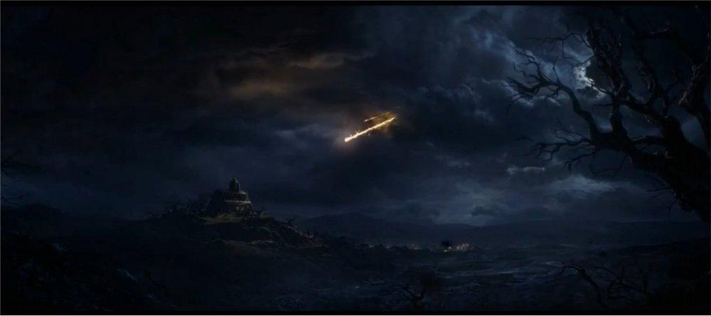 La météorite arrive sur la cathédral de la Nouvelle Tristram annonçant le retour des démons