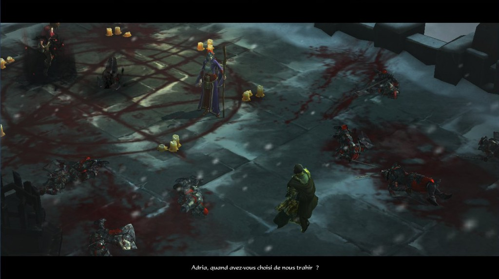 Tyraël maîtrisé par Adria dans Diablo 3 alors qu'elle prépare à faire revenir Diablo