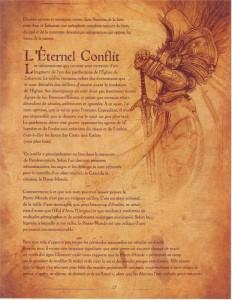 Page 1 sur la présentation de l'Eternel Conflit (livre de Cain - Diablo)