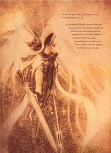 Illustration d'Auriel, l'ange de l'espoir (livre de Cain - Diablo)