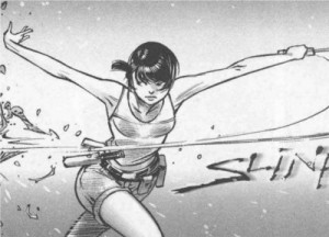 Xiong Mao testant une arme dans Freaks' Squeele