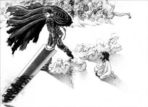 Casca, Guts et son épée dans Berserk