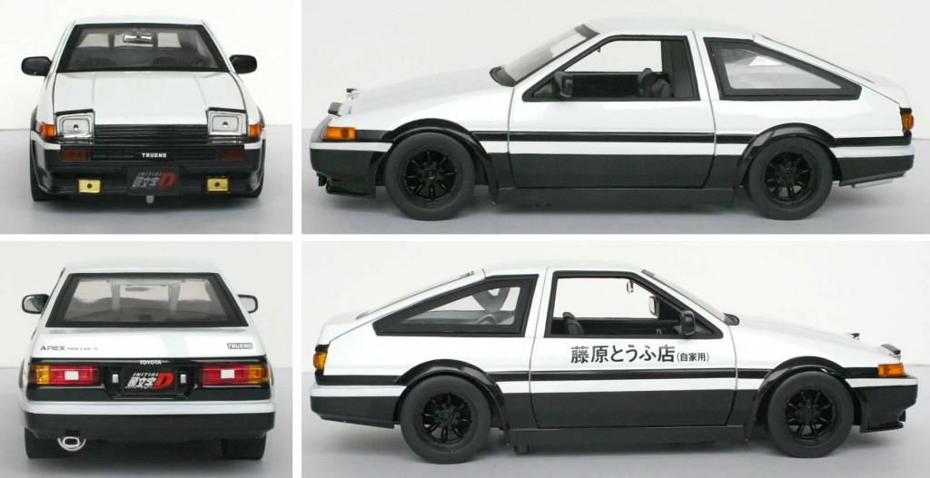 Initial D : Toyota Trueno AE 86 die cast - ech 1/18 (Jada Toys)